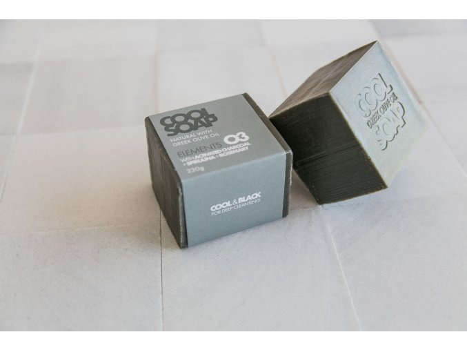 1535106899 1 Olive oil soap bar 230 gr with rosemary and active charcoal 2